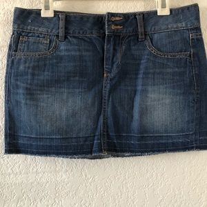 Old Navy Denim Skirt w/ raw hem